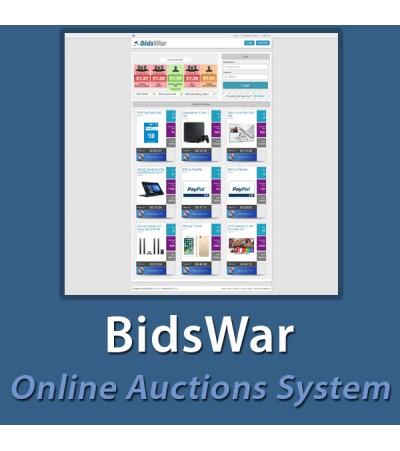 BidsWar - Online Auctions System