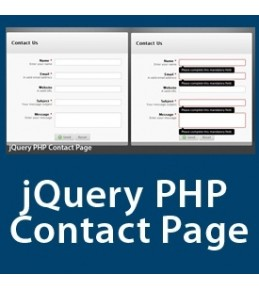 jQuery PHP Contact Page